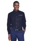 FITTEAM Men's Easy Blend™ Long-Sleeve Twill Shirt