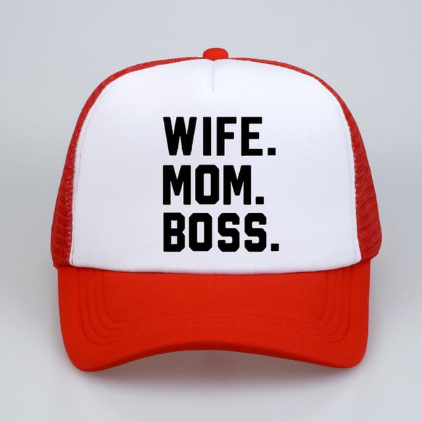WIFE. MOM. BOSS. Trucker Cap
