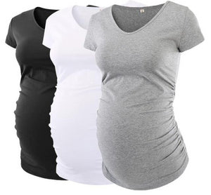 Three Pack V-Neck Maternity Tee