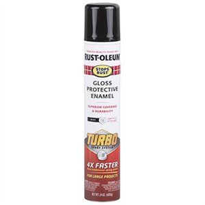 Stops Rust Turbo Spray Paint, Gloss Black, 24-oz.-Exeter Paint Stores
