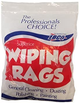 EBCO SUPERIOR WIPING RAGS WHITE 1 LB BAG-Exeter Paint Stores