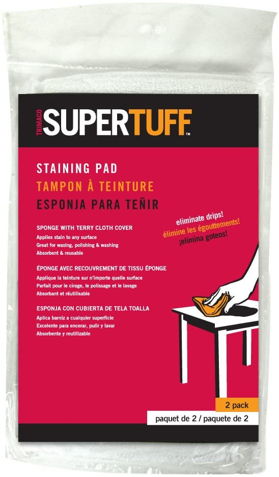 Trimaco #10102 SuperTuff Sponge, 2 Pack Staining Pad, White-Exeter Paint Stores