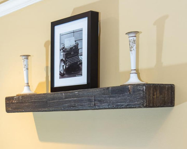 ANTHRACITE FLOATING MANTEL SHELF - 4'-Exeter Paint Stores