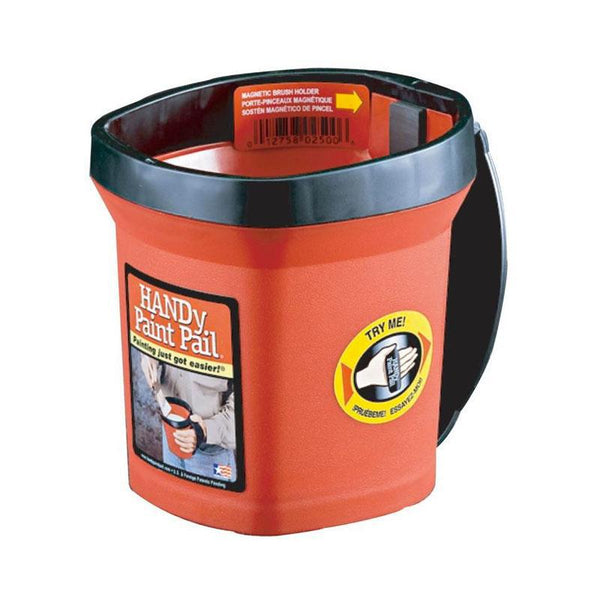 Paint pail w/ magnetic brush holder