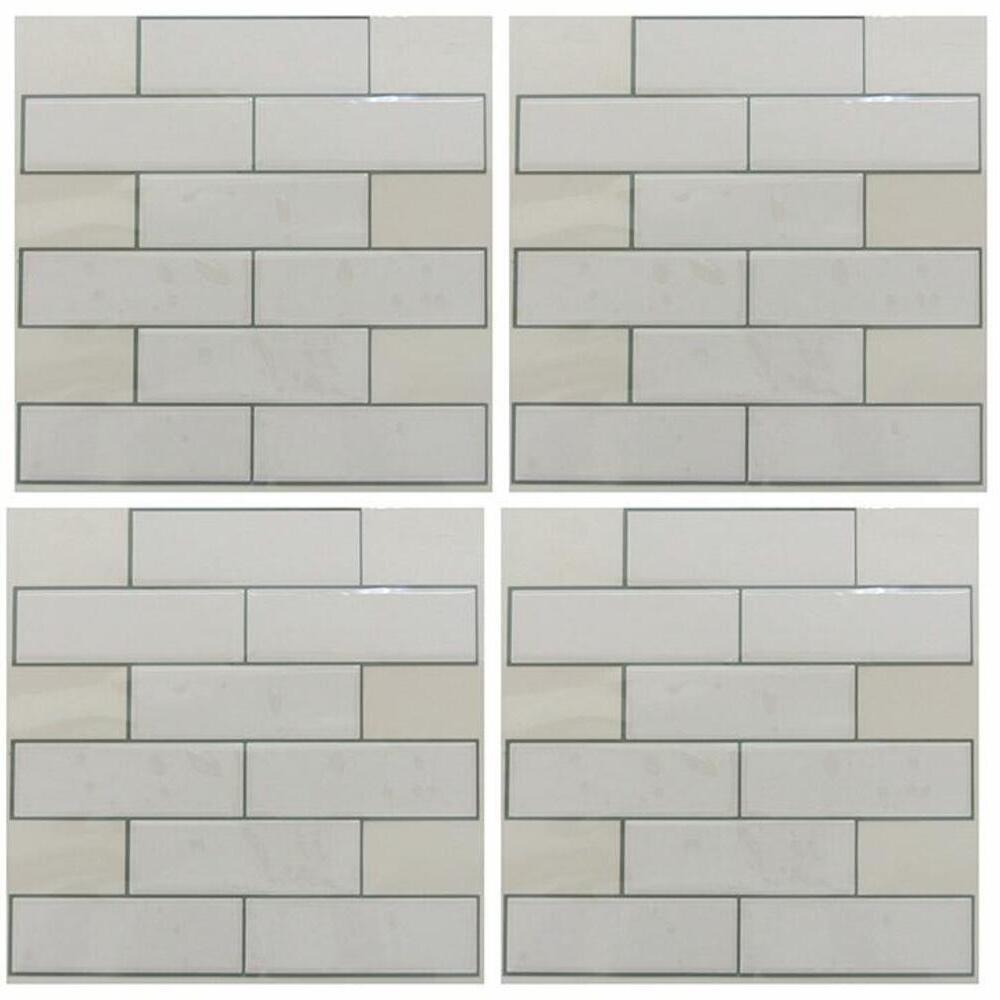 ROOMMATES CLASSIC SUBWAY TILE PEEL AND STICK BACKSPLASH TIL3459FLT-Exeter Paint Stores