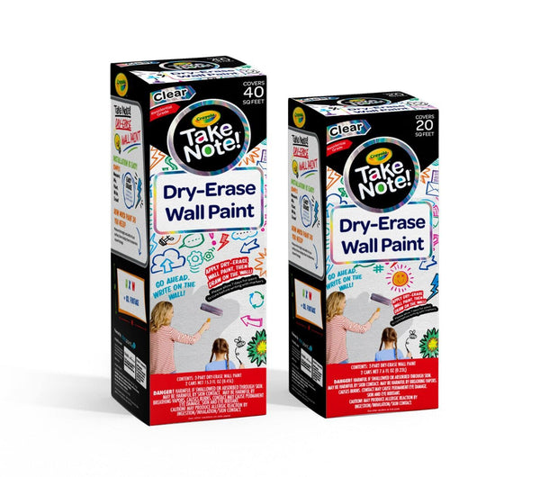 CRAYOLA® TAKE NOTE! DRY ERASE WALL PAINT 40 Sq Ft Kit-Exeter Paint Stores