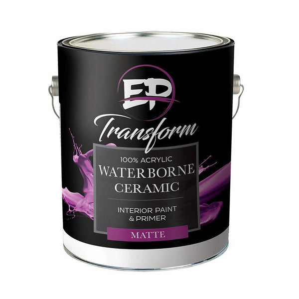 "Premium Interior Paint & Primer Transform I Ceramic Matte Paint ""NEVER TOUCH UP YOUR WALLS AGAIN""-Exeter Paint Stores"