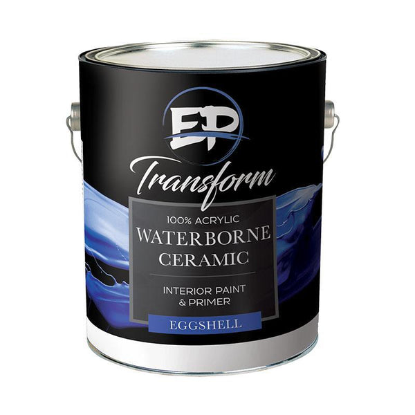 "Premium Interior Paint & Primer Transform I Ceramic Eggshell Paint ""NEVER TOUCH UP YOUR WALLS AGAIN""-Exeter Paint Stores"