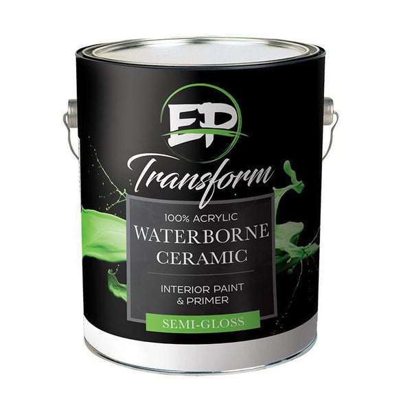 "Premium Interior Paint & Primer Transform I Ceramic Semi-Gloss Paint ""NEVER TOUCH UP YOUR WALLS AGAIN""-Exeter Paint Stores"