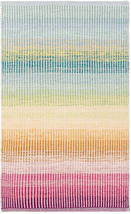 DASH & ALBERT WATERCOLOR HORIZON WOVEN COTTON RUG DA817-Exeter Paint Stores