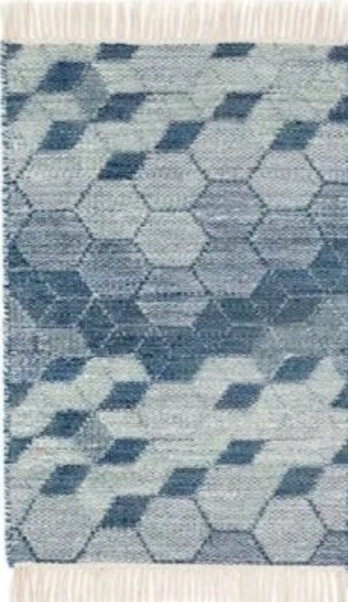 DASH & ALBERT ODYSSEY BLUE WOVEN WOOL RUG-Exeter Paint Stores