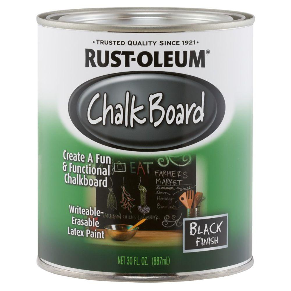 Rust-oleum chalk board quart black 11813