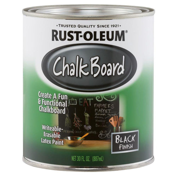 Rust-oleum chalk board quart black 11813-Exeter Paint Stores