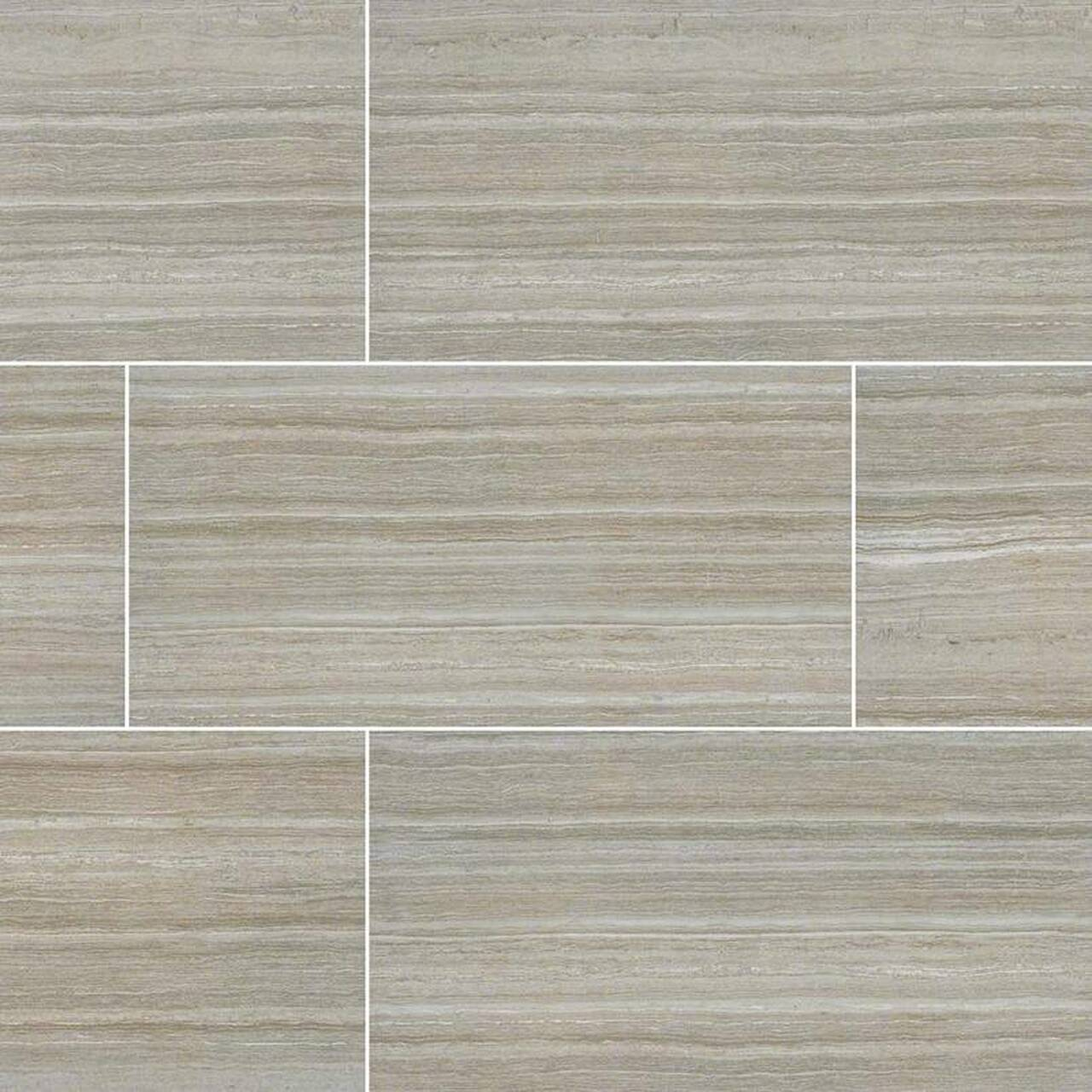 Essentials Charisma Silver 12''x24'' Ceramic Tile-Exeter Paint Stores