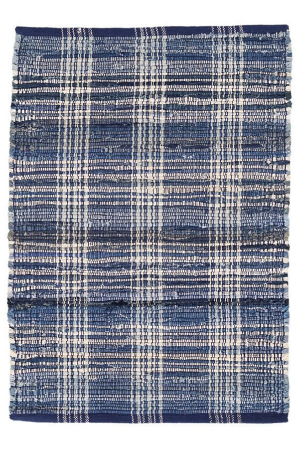 DASH & ALBERT DENIM PLAID WOVEN COTTON RUG-Exeter Paint Stores