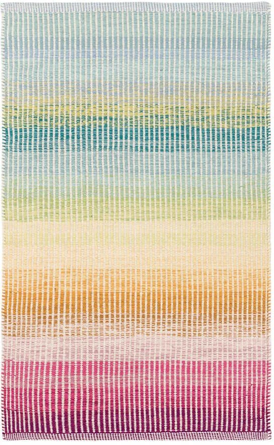 DASH & ALBERT WATERCOLOR HORIZON WOVEN COTTON RUG-Exeter Paint Stores