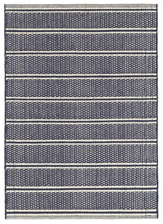 DASH & ALBERT ARCHER NAVY WOVEN COTTON RUG-Exeter Paint Stores