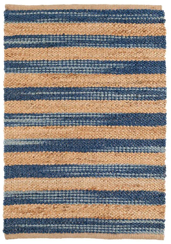 DASH & ALBERT CORFU BLUE WOVEN JUTE RUG-Exeter Paint Stores