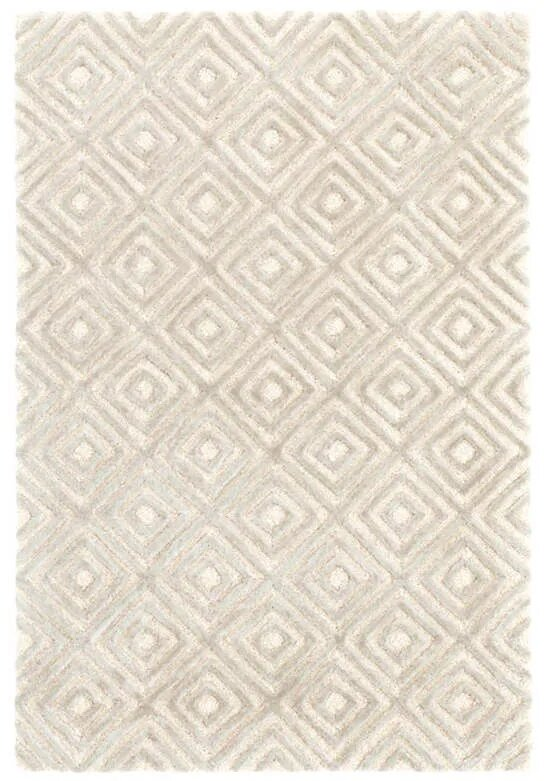 DASH & ALBERT CUT DIAMOND TUFTED WOOL/VISCOSE RUG-Exeter Paint Stores