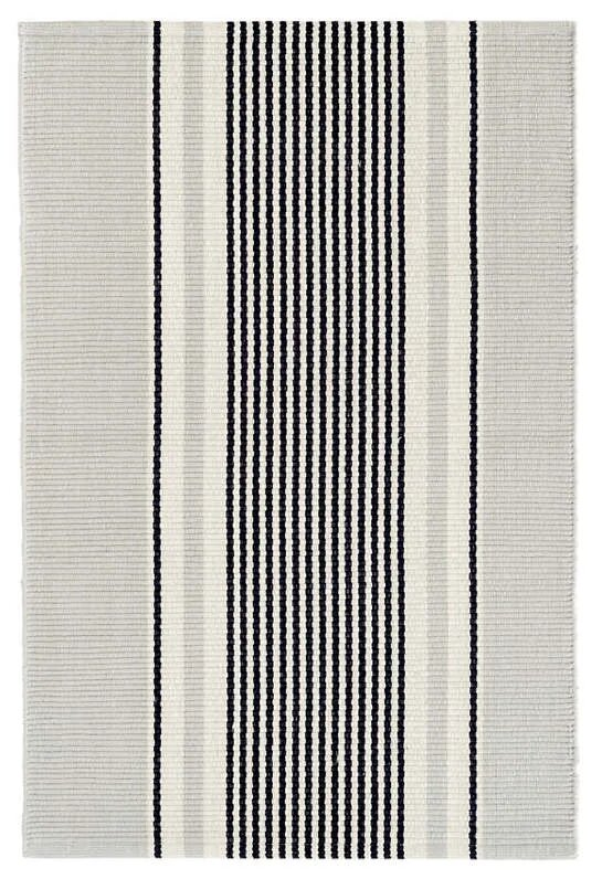 DASH & ALBERT GUNNER STRIPE WOVEN COTTON RUG-Exeter Paint Stores