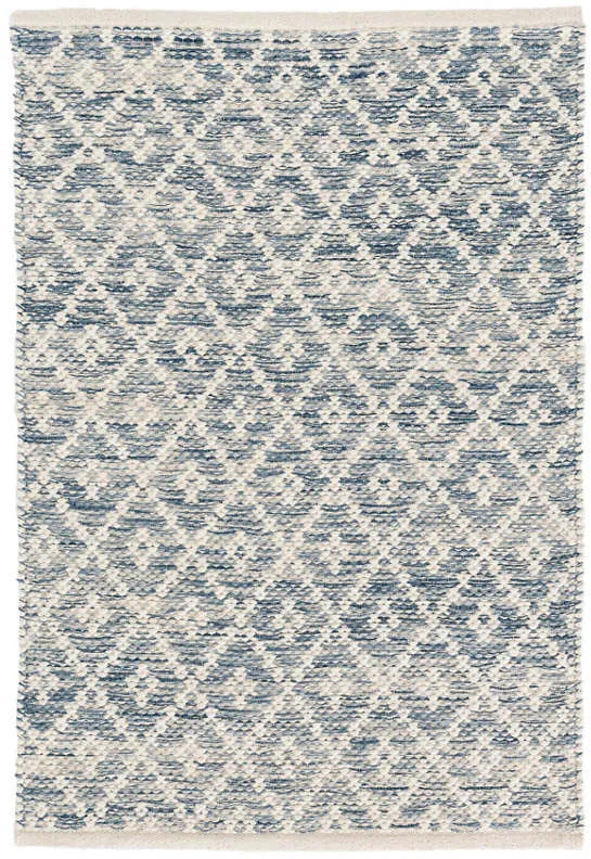 MELANGE DIAMOND BLUE WOVEN COTTON RUG DA887-Exeter Paint Stores