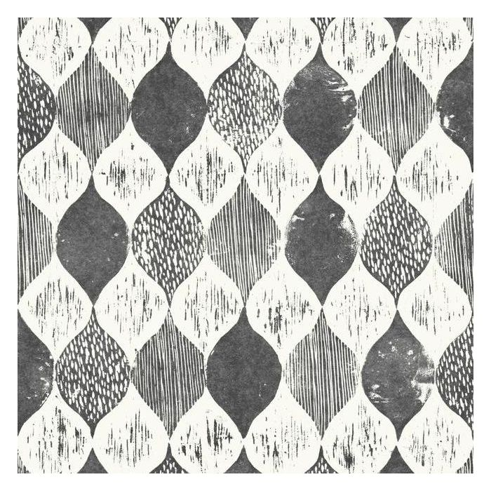 Woodblock Print Sure Strip Wallpaper ME1565-Exeter Paint Stores