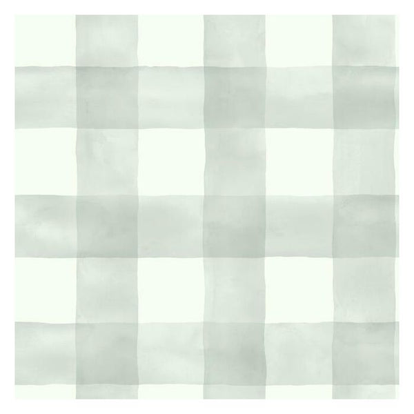 Watercolor Check Sure Strip Wallpaper MH1519-Exeter Paint Stores
