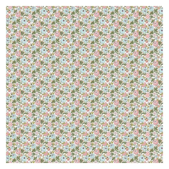Floral Ditzy Vine Peel and Stick Wallpaper RMK11317RL-Exeter Paint Stores