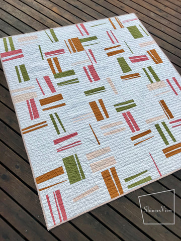 Shinersview brushstroke quilt from pattern