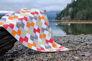 Throw Quilt || Geometric Patchwork