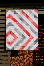 Load image into Gallery viewer, Baby Quilt || Offset Diamond in Coral and Gray