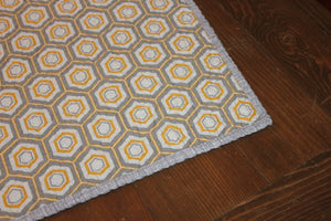 Modern Patchwork Baby Quilt || Gray and Yellow