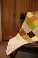 Load image into Gallery viewer, Modern Patchwork Quilt - Sofa Throw - Couch Decor - Yellow Quilt - Fall Colors
