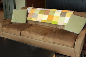 Modern Patchwork Quilt - Sofa Throw - Couch Decor - Yellow Quilt - Fall Colors