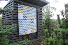Load image into Gallery viewer, Modern Quilt in Yellow, Gray and White