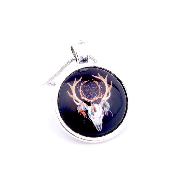 Collier pendentif rond 25 mm - Crazy Lily