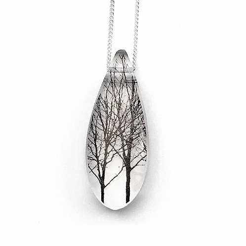 Collier Grosse goutte Arbre - Black Drop