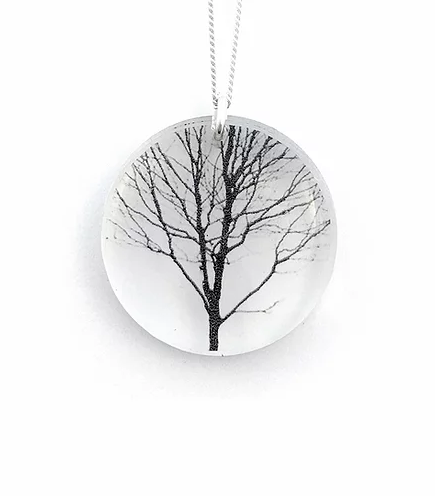 Collier Rond Arbre | Black drop