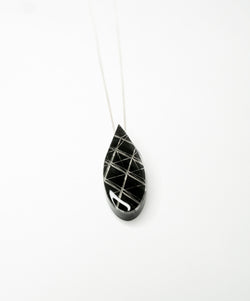 Collier Grosse goutte - Black Drop