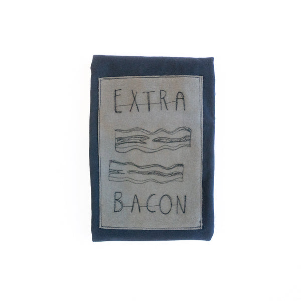 T-shirt patch Extra bacon - Noir petit - MM5