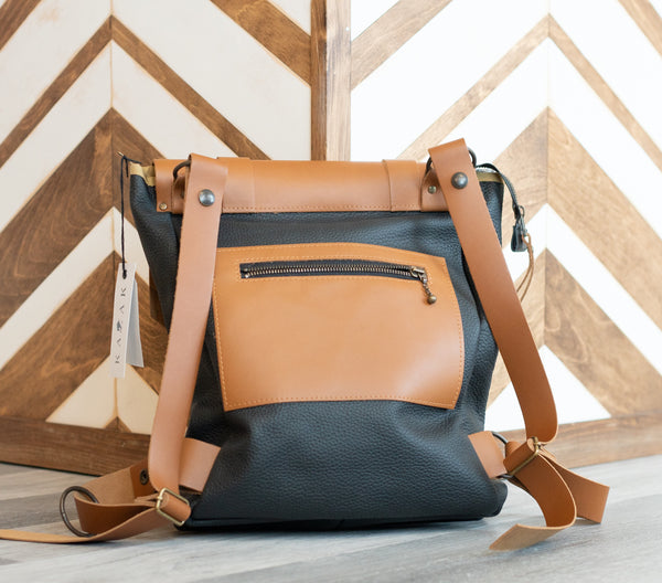Sac Stone ridge noir & tan | Kazak