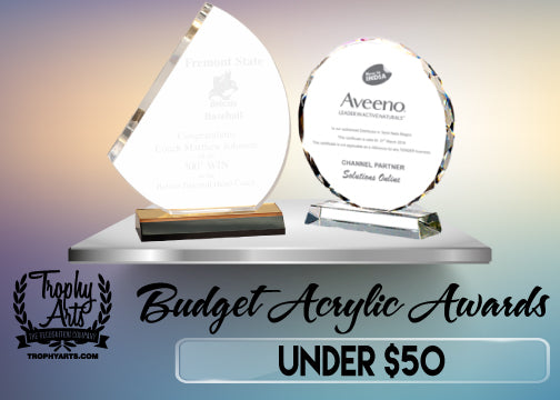 Acrylic Awards Under $50