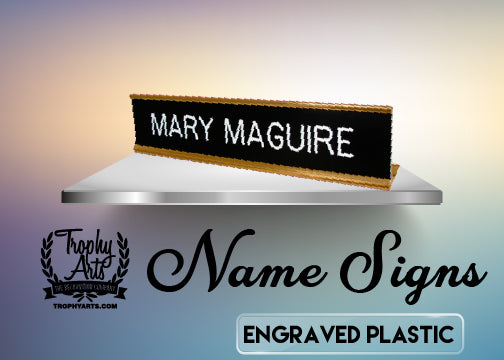 Engraved Plastic Name Signs