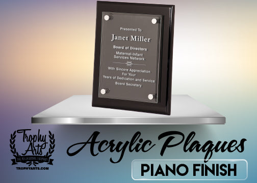 Piano Finish Acrylic Plaques