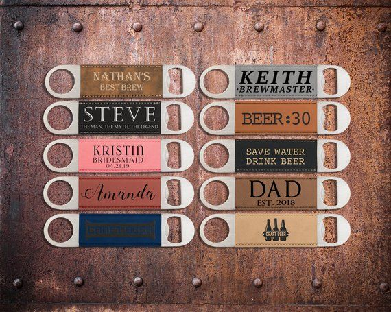 Laser Engraved Leather Bottle Opener