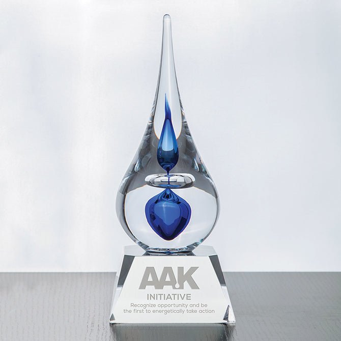 Neptune Teardrop Art Glass Award
