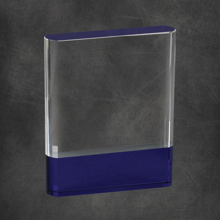 Premium Granada Crystal Award with black or blue crystal accent