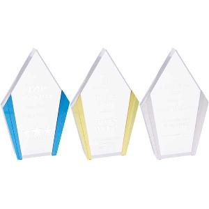 Color Edge Diamond Acrylic Award