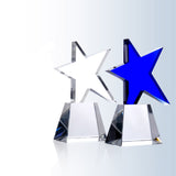 Meteor Blue Star Crystal Award