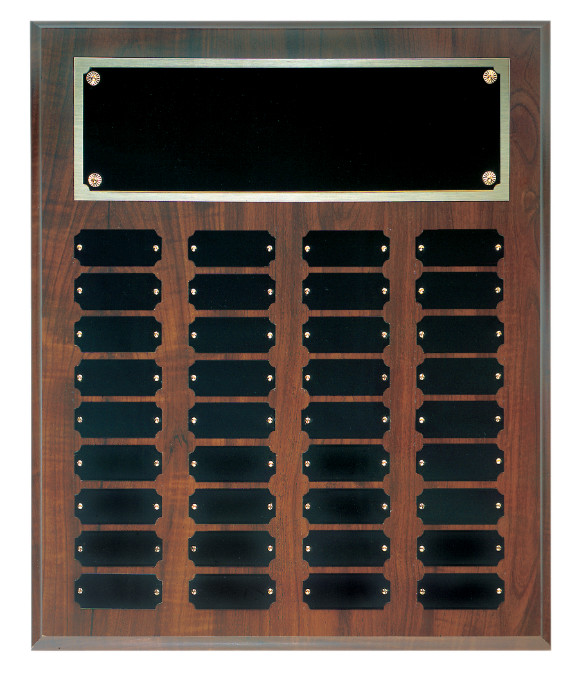 Economy Walnut Finish Perpetual Plaque